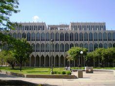 Wayne State University, Architect Minoru Yamasaki, College of Education building, Detroit, MI