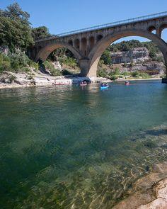 On the Gardon river at Collias, Gard, France