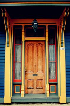 Awesome door with a letterbox in Lunenburg, Nova Scotia   ..rh