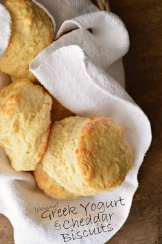 Skinny Greek Yogurt Cheddar Biscuits