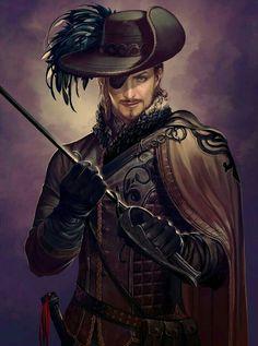Male Human Swashbuckler - Pathfinder PFRPG DND D&D d20 fantasy