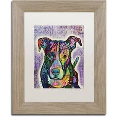 Trademark Fine Art Luv Me Canvas Art by Dean Russo, White Matte, Birch Frame, Size: 16 x 20, Brown