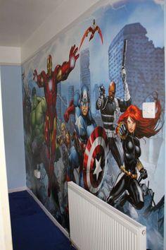 Marvel avengers little boys rooms, baby boy rooms, teen boy bedding Avengers Room, Avengers Birthday, Marvel Avengers, Box Bedroom, Kids Bedroom, Bedroom Ideas, Nursery Ideas, Teen Boy Bedding Sets, Marvel Bedroom