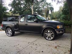 flat black 1997 ford f150