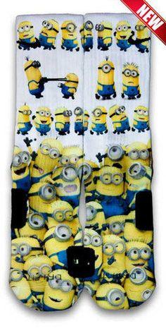 Minions Nike Custom Elite Socks by CustomizeEliteSocks on Etsy