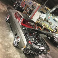 72 chevelle grey red interior forgiato wheels. other than the year and stripes, it looks like an exact copy of the sandman ivy 70 chevelle. Intimidator or imitator