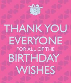 thank for birthday wishes images & thank you message for the birthday greetings received