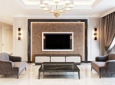 36 Gorgeous Luxury Modern Furniture For Living Room - Spring is now officially upon us and is a perfect excuse for a fresh new look in our homes. More often than not our interiors lack that extra slice of. Modern Tv Room, Modern Tv Wall Units, Tv Cabinet Design, Tv Wall Design, Living Tv, My Living Room, Tv Wanddekor, Lcd Panel Design, Living Room Tv Unit Designs