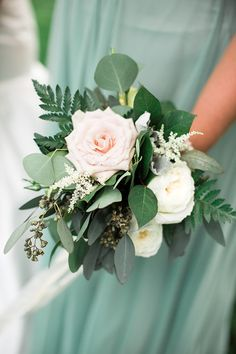 Wedding Bouquets Blush Flowers and Greenery Bouquet - Creative Wedding Styling and Event Design Small Wedding Bouquets, Church Wedding Flowers, Country Wedding Flowers, Wedding Flower Guide, Small Bouquet, Wedding Flower Arrangements, Bridesmaid Flowers, Bride Bouquets, Flower Bouquet Wedding