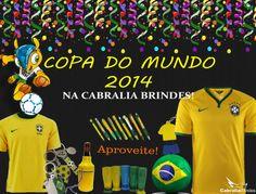 Copa do Mundo 2014 no Brasil! Aproveite os melhores produtos com os melhores preços da Cabralia Brindes!!!