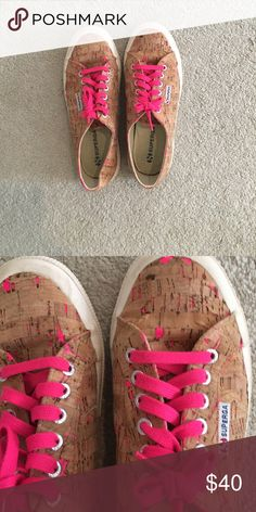sALe! 💞Hardly worn at all! Cork style so cute!💞 Great for your superga collection eu 41 but fits us 10💞💞💞accessories sold separately 😊💞👜😍 Superga Shoes Sneakers