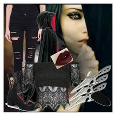 """""""Gothic vampire"""" by kiaraloops ❤ liked on Polyvore featuring moda y Frame Denim"""