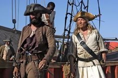 James Purefoy and Mark Noble in Blackbeard Mark Noble, James Purefoy, British Actors, Bradley Mountain, Pirates, Gentleman, Ships, Boats, Gentleman Style