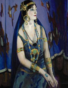 """Arthur B. Carles´ portrait of his wife as Cleopatra is in the show """"PAFA and Dr. Barnes"""" at the Pennsylvania Academy of the Fine Arts."""