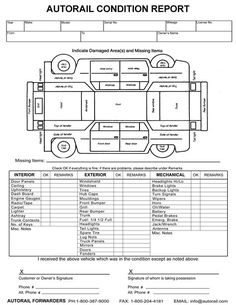 Car Damage Inspection Diagram Renault Master Radio Wiring 9 Best Check List Contracts Images Detailing Contract Image Result For Vehicle Form Template Conditioner Condition Report Templates Vehicles