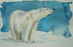 polar bear watercolors | polar bear watercolor | Artwork