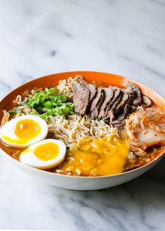 Elevating Instant Ramen by Erica (The Pioneer Woman) Homemade Beef Broth, Kimchi Ramen, Soup Recipes, Cooking Recipes, Instant Ramen, Dinner For One, Asian Recipes, Ethnic Recipes, Instant Recipes