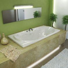 Atlantis Whirlpools 3672W Whisper 36 x 72 Rectangular Soaking Bathtub