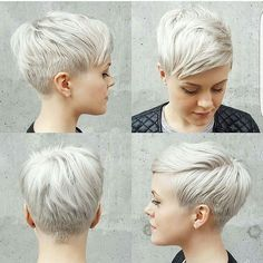 A full 360 of @lyndee_hairlove_marie pixie cut.  Who wants this look??? @jessattriossalon