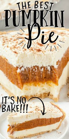 No Bake Pumpkin Pie, Baked Pumpkin, Pumpkin Pie Recipes, Pumpkin Dessert, Fall Recipes, Sweet Recipes, Holiday Recipes, Pumpkin Carving, Pumpkin Pie Recipe No Eggs