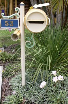 CREAM CAN MAIL BOX