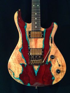 Knaggs Guitars Severn T3 Trembuck with Spalt Maple top and Chrysocolla stone…