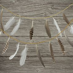 Feather Garland by WonderfulCollective on Etsy, $40.00
