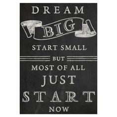 Start Now Canvas Print