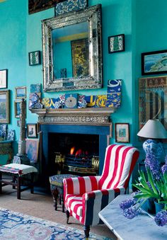 Antiques dealer Peter Hinwood's drawing room