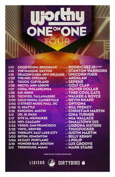 #housemusic Worthy Announces 23-date 'one on One' Tour Across North America: Wrapping up yet another prolific year of upholding the…