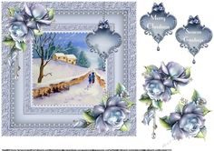 Floral Christmas Celebrations 26 Quick Card By June Harrop Christmas Decoupage, 3d Christmas, Christmas Design, Christmas Cards, Xmas, 3d Pattern, Patterns, Quick Cards, Greeting Cards Handmade