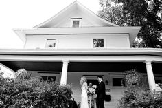 What makes you feel more at home than a wedding on your front porch? Photo by Shalista Photography.