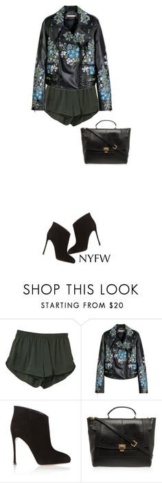 """""""Mad in Madrid must be the wine señor Or the fire in your eyes"""" by paula-v ❤ liked on Polyvore featuring Christopher Kane, Gianvito Rossi, Elie Saab and NYFW"""