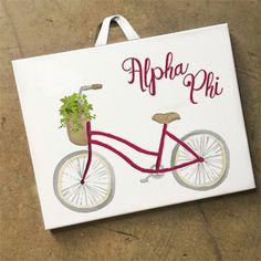 "Alpha Phi ""Bike"" Canvas, 8×10"