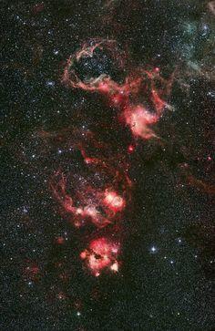 Stars and red nebulae #star #nebula