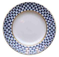 "Amazon.com: Lomonosov Porcelain ""Cobalt Net"" Dessert Plate: Home & Kitchen"