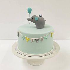 Elephant cake, Frangipani Bakery, Finnish Bakery, May 2016 Baby Boy Birthday Cake, 1st Birthday Cakes, Baby Boy Cakes, Torta Baby Shower, Elephant Cakes, Elephant Theme, Pregnant Cake, Elegant Birthday Cakes, Novelty Cakes