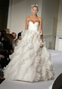 Oscar De La Renta Ivory Silk Organza Wedding Dresses Wedding Dresses Wedding Dress Gallery Used Wedding Dresses
