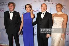 Prince Albert II of Monaco, Charlene Wittstock, princess Caroline and Ernst August of Hanovern in New York, United States on October 25th, 2007.
