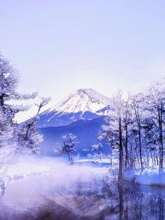 In winter Mt Fuji