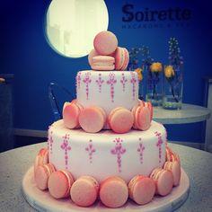 Macaron Birthday Cake  #macaron #soirette #cake