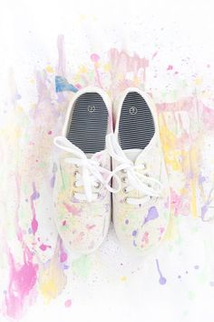 buy popular 81844 4a966 DIY Abstract Paint Splatter Shoes Selbstgemachte Kleidung, Selbermachen,  Kassel, Turnschuhe, Farbensplatter,