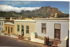 The Malay Quarters in Cape Town, many moons ago. Post card sent to Germany.