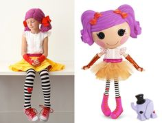 Great Lalaloopsy costume. My girls would LOVE this!