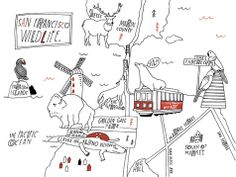Lisa Congdon - San Francisco map