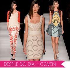 melhores, terceiro dia, Fashion Rio, verão 2013, Coven, Maria Bonita Extra, Batom Coral, Tricô, malha, bordado, pérolas, desfile, make,