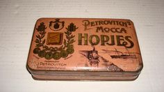 A Dutch Tin with Sweets, Petrovitch's mocca hopjes, from Amsterdam, 40 ties , in my collection and for Sale