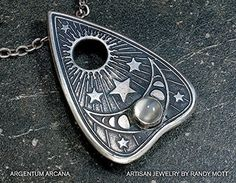 Sterling Silver Planchette Pendant Necklace with Moonstone ** You can find out more details at the link of the image.