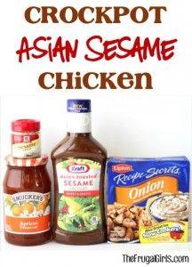 Crockpot Asian Sesame Chicken Recipe from TheFrugalGirls.com