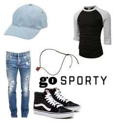 Go Sporty by kalhi on Polyvore featuring LE3NO, Dsquared2, A.P.C., men's fashion and menswear #MensFashionSporty